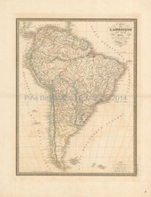 South America Antique Map Andriveau-Goujon 1837