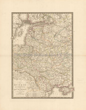 Western Russia Antique Map Brue 1827