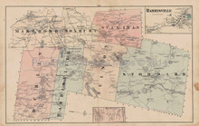 Roxbury Dublin Stoddard New Hampshire Antique Map Walling 1877