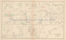 Peninsular Campaign N. Virginia Civil War Antique Map 1895