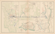 Corinth Mississippi Civil War Antique Map 1895