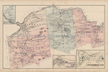 Chesterfield Westmoreland New Hampshire Antique Map Walling 1877