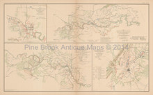 Jackson Mississippi Civil War Antique Map 1895