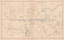Atlanta Love joy's Station Bethel Civil War Antique Map 1895