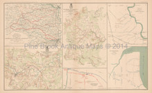 Appomattox Campaign Pittsburg Civil War Antique Map 1895