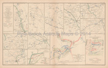 Campaign Of The Carolinas Civil War Antique Map 1895