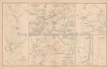 Mine Run Campaign Atlanta Civil War Antique Map 1895