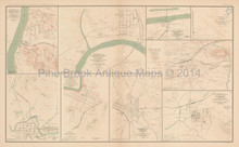 Johnsonville Clarksville Civil War Antique Map 1895