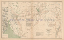 Department Of Utah Civil War Antique Map 1895