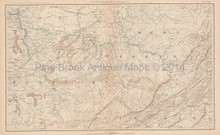 Virginia West Virginia Civil War Antique Map 1895