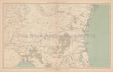 Georgia Florida Civil War Antique Map 1895