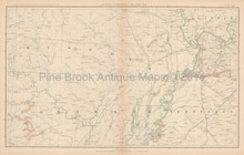 Tennessee Illinois Civil War Antique Map 1895