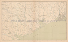 Louisiana Texas Civil War Antique Map 1895