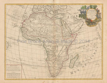 African Continent Antique Map DeLisle 1708