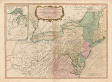 Northeast United States Antique Map Laurie & Whittle 1794