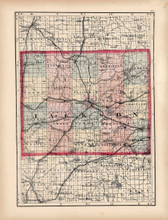 Jackson Calhoun County Michigan Antique Map Walling 1873