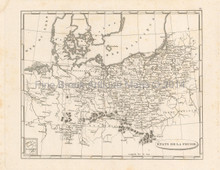 Prussia Antique Map Pinkerton 1804
