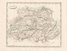 Switzerland Antique Map Pinkerton 1804