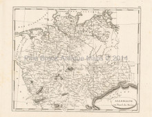 Northern Germany Antique Map Pinkerton 1804