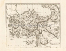 Asia Minor Antique Map Pinkerton 1804