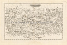 Central Asia Antique Map Pinkerton 1804