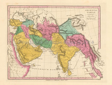 Ancient South Asia Antique Map Finley 1831