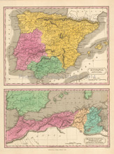 Ancient Spain Antique Map Finley 1831