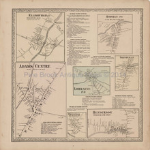 Ellisburgh Rodman New York Antique Map Beers 1864