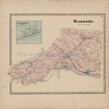 Brownville Dexter New York Antique Map Beers 1864