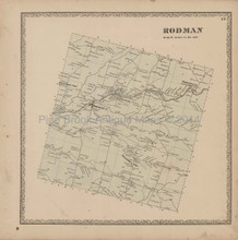 Rodman New York Antique Map Beers 1864