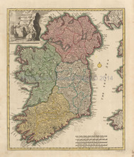 Ireland Antique Map Weigel 1718