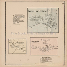 Coeymans Landing Bernville NY Antique Map Beers 1866