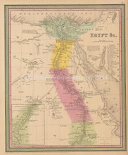 Egypt Antique Map Cowperthwait 1853