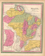 Brazil Antique Map Mitchell 1846