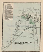 Antique Map Bernardston Village Massachusetts Beers 1871