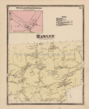 Antique Map Hawley Massachusetts Beers 1871