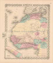 Africa Northwest Antique Map Colton 1855