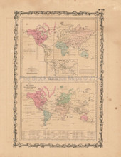 Animal Kingdom Antique Map Johnson 1862