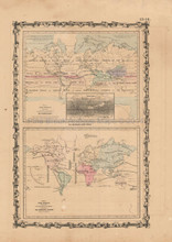 Climate Plants Antique Map Johnson 1862
