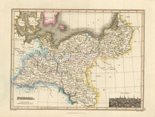 Prussia Antique Map Wyld 1827