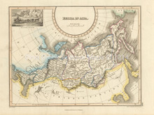 Russia in Asia Antique Map Wyld 1827