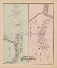 Tuckahoe North South New Jersey Antique Map Woolman & Rose 1878