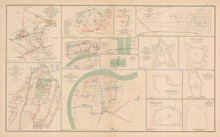 Northern Virginia Campaign Field Works Civil War Antique Map 1895 circa
