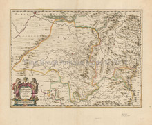 Huesca Jaca Aragon Antique Map Jansson 1650