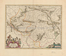 Teruel Albarracin Spain Antique Map Jansson 1650
