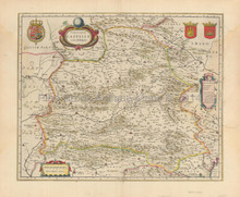 La Mancha Andalucia Spain Antique Map Jansson 1639
