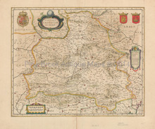 Andalucia La Mancha Spain Antique Map Jansson 1650