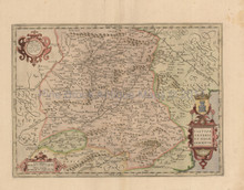 Central Spain Antique Map Jansson 1650