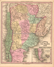 Chili La Plata Antique Map Tanner 1836