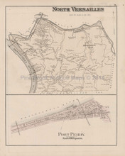 Versailles North South Port Perry Pennsylvania Antique Map Hopkins 1876